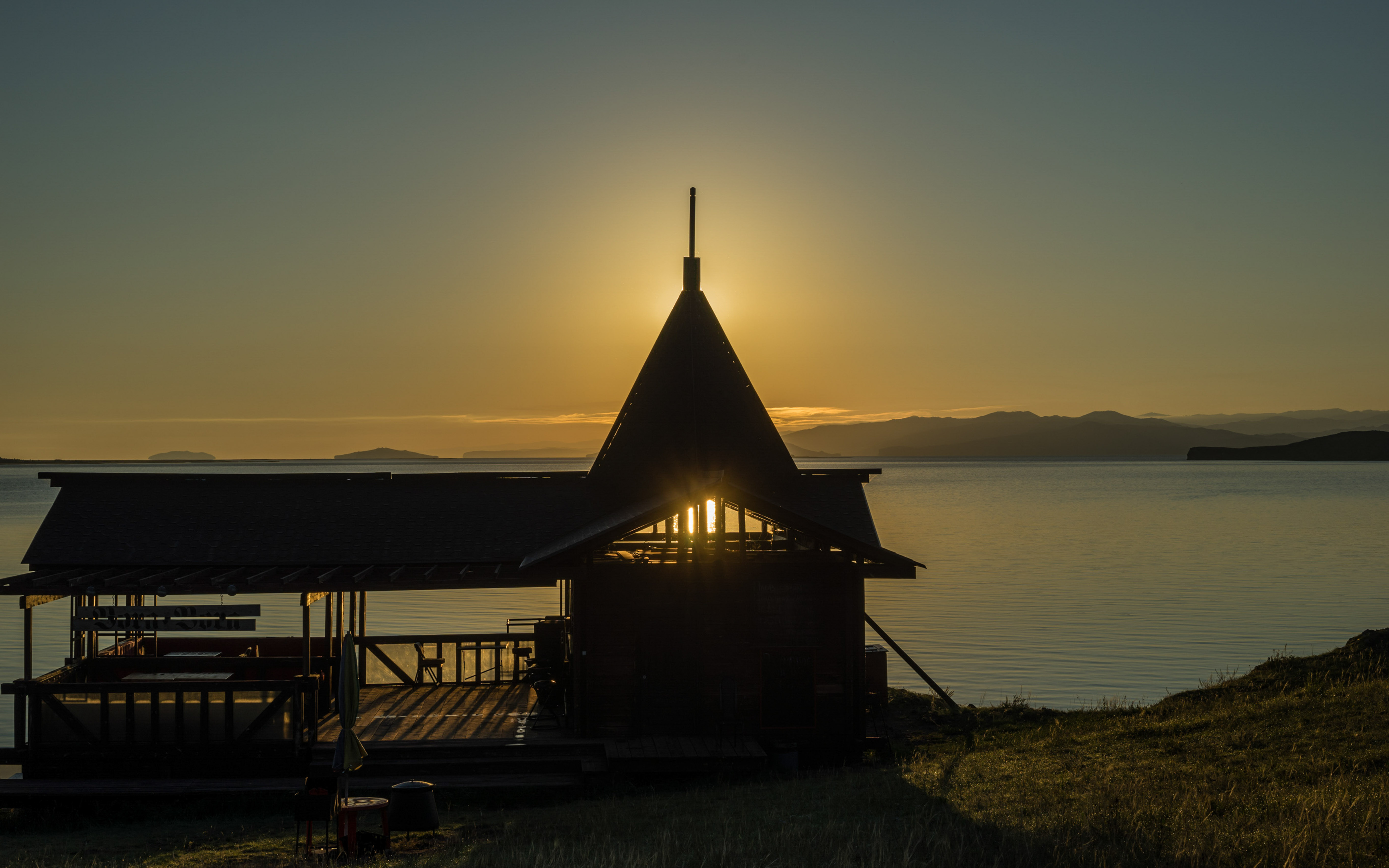 "Sonnenaufgang am Baikalsee- am Basis-Camp ""Da-Shi"""