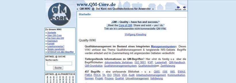 QM-Core Website