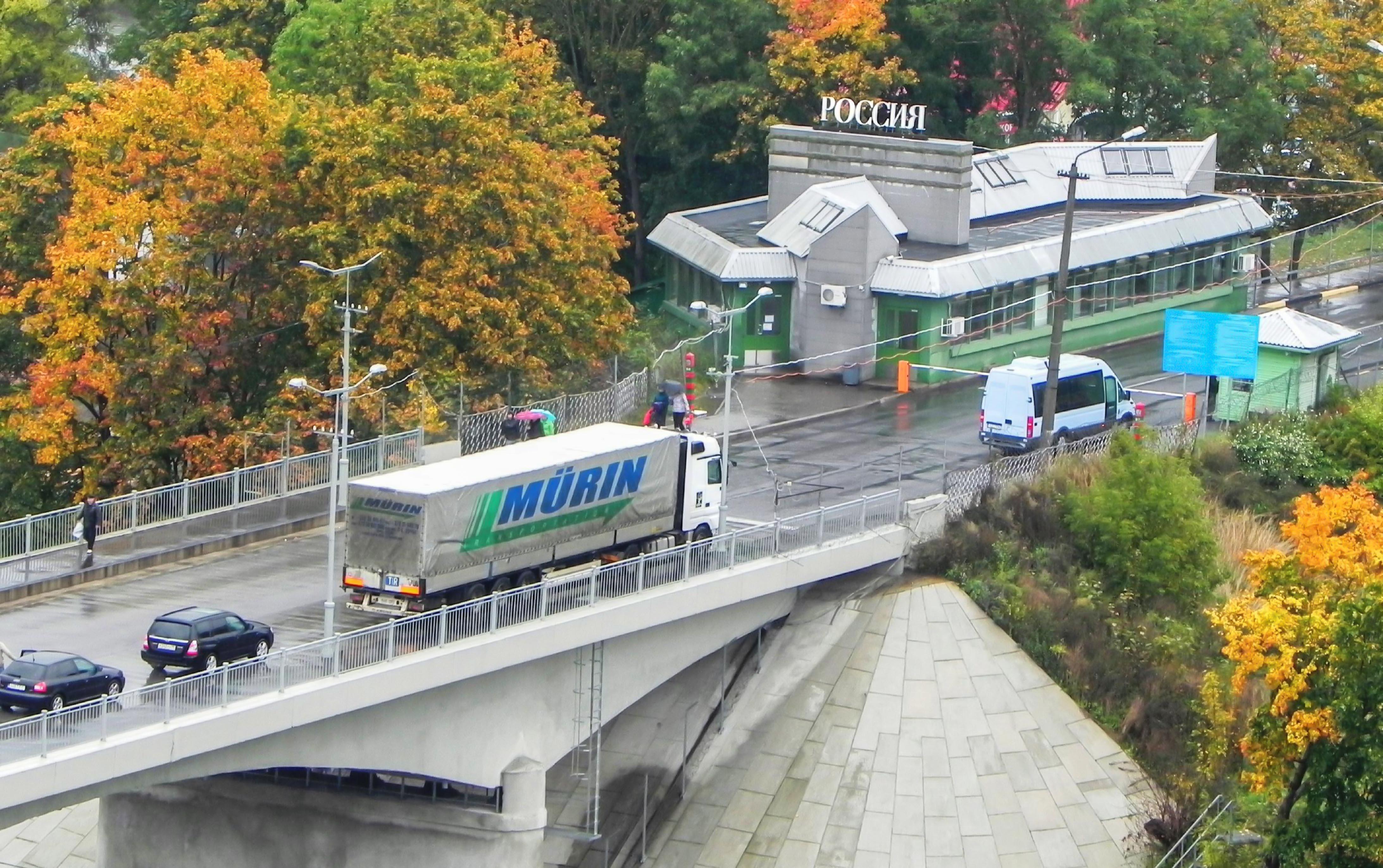 Estland , Narwa, Grenzübergang zu Russland