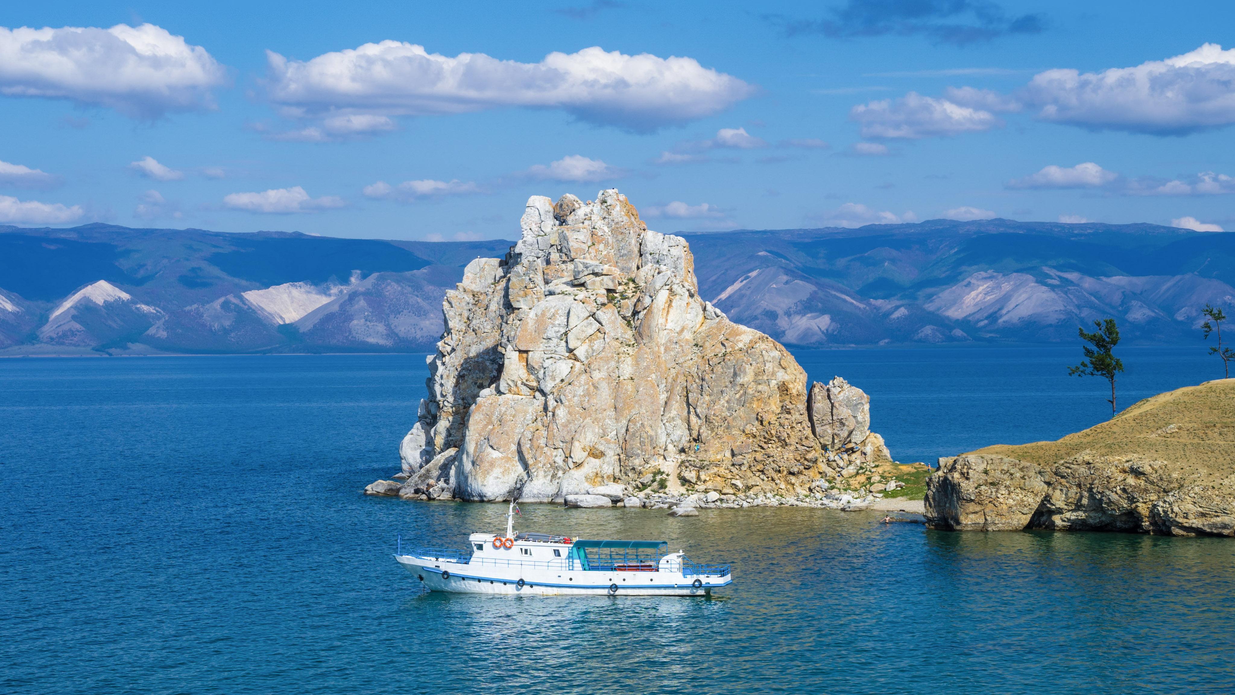Baikal, Insel Olchon, Am Schamanenfelsen
