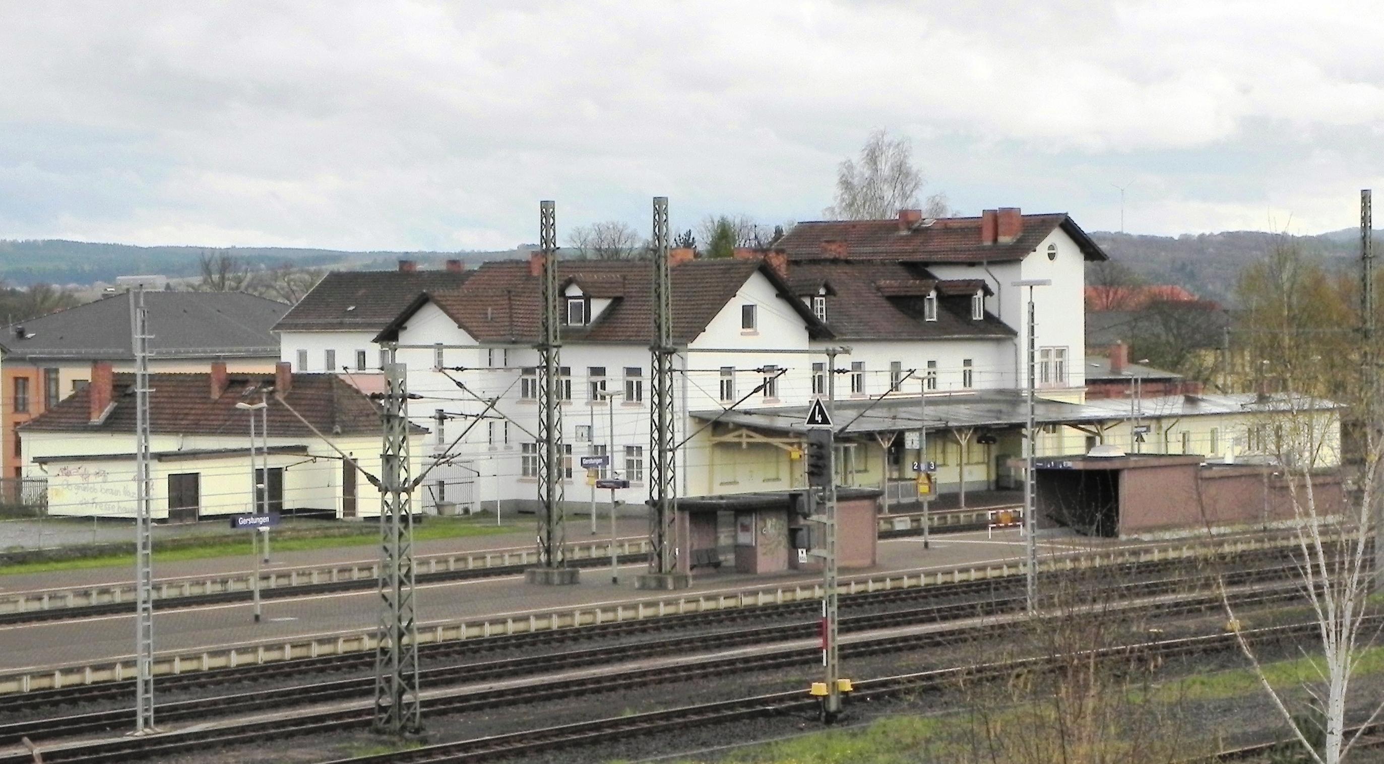 Zeitzeugen der Teilung, Bahnhof Gerstungen im Jahr 2012