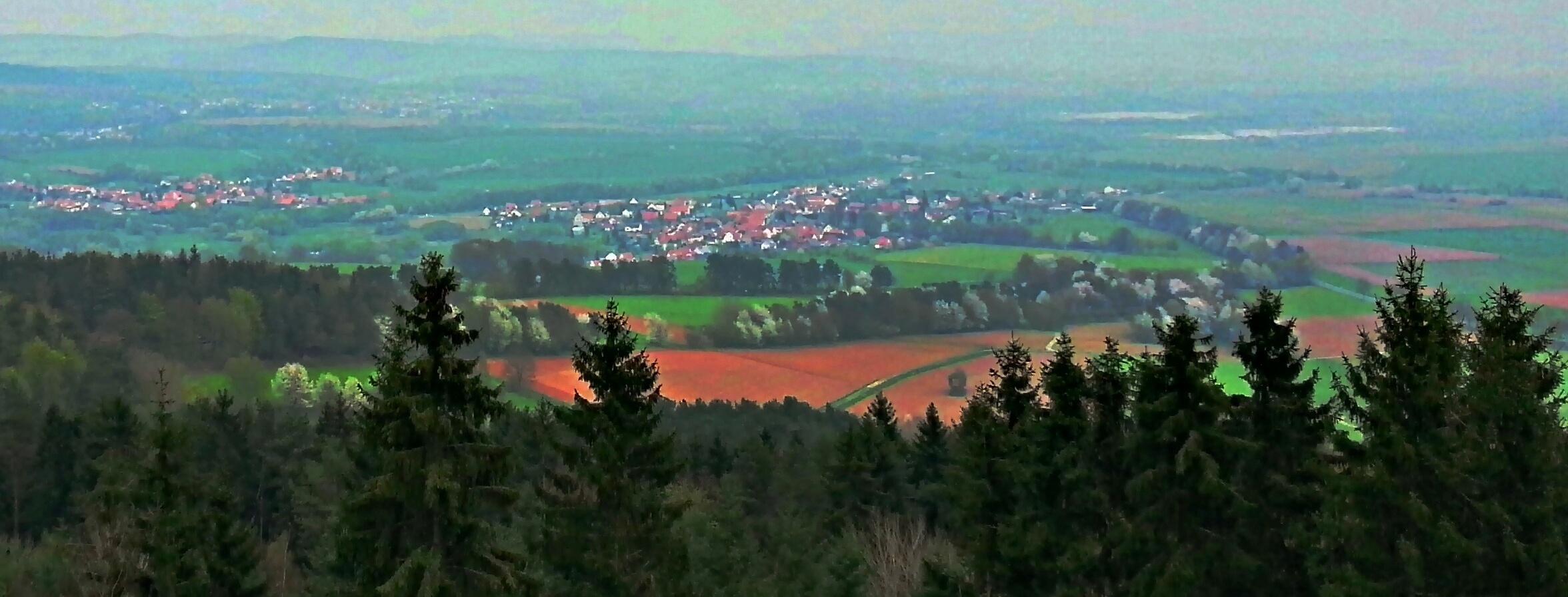 Zeitzeugen der Teilung, Blick von der Höhe Bodesruh auf Wildeck