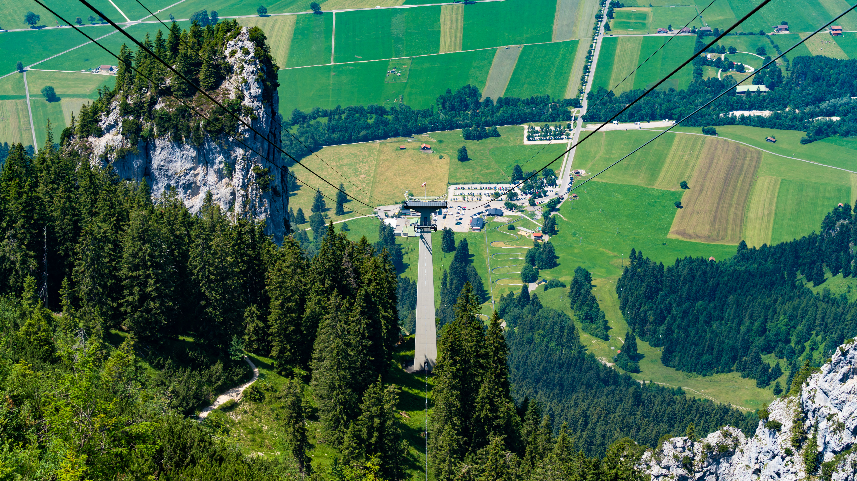 Allgäu, bei Füssen, Tegelberg-Seilbahn