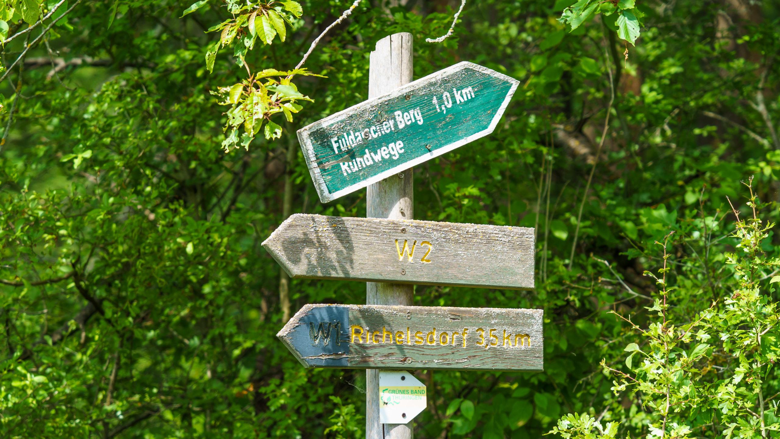 Grenzweg Gerstunger Forst, unterhalb Fuldaischer Berg, nahe Untersuhl