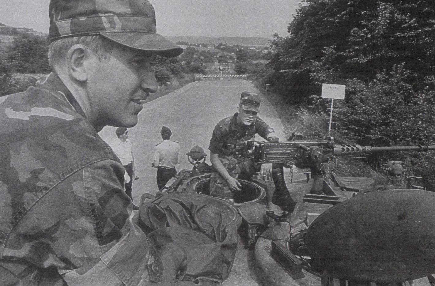 1984 - US-Army auf Posten - Autobahn bei Untersuhl