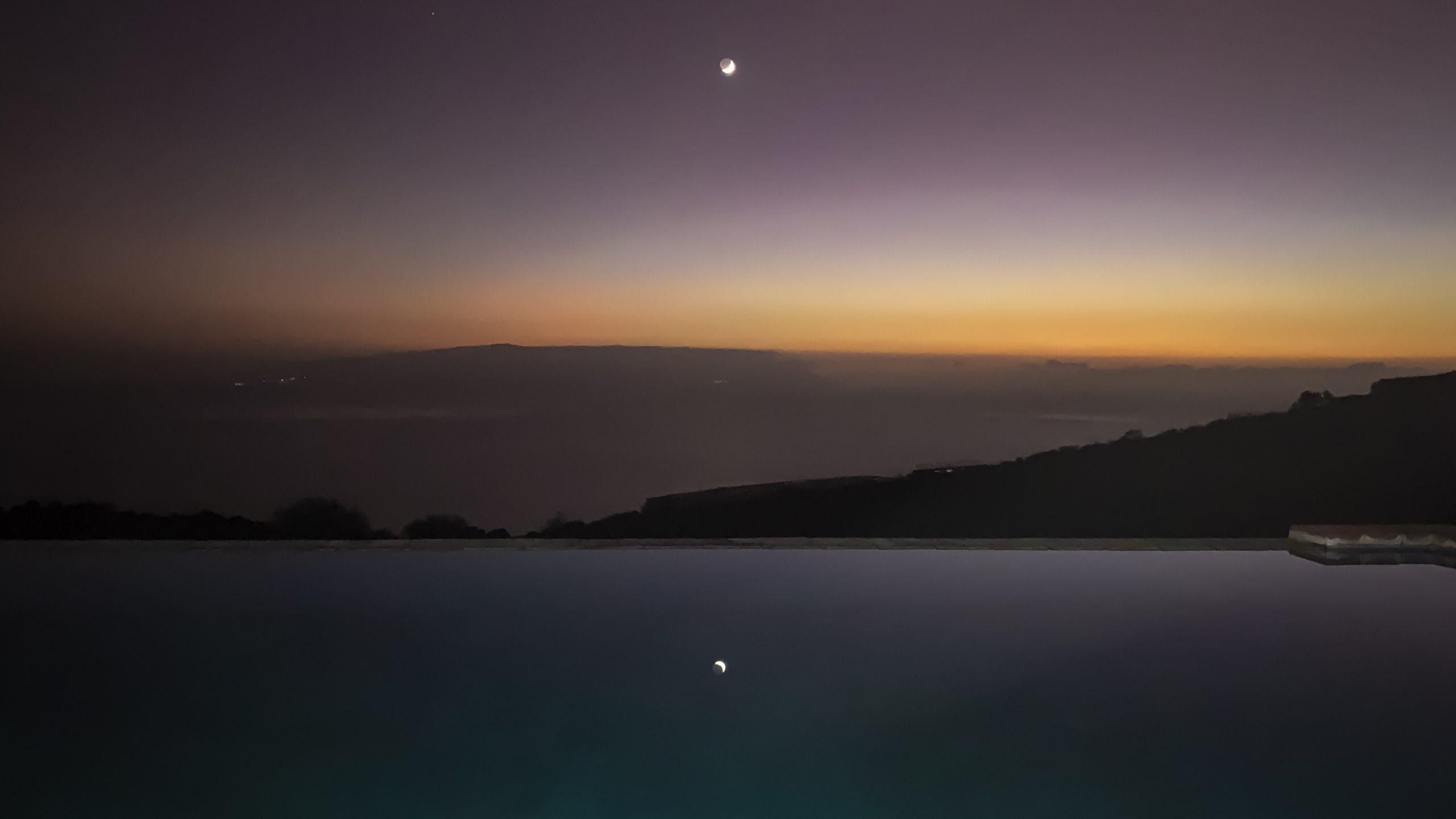 Atlantik, Teneriffa, Mond über La Gomera