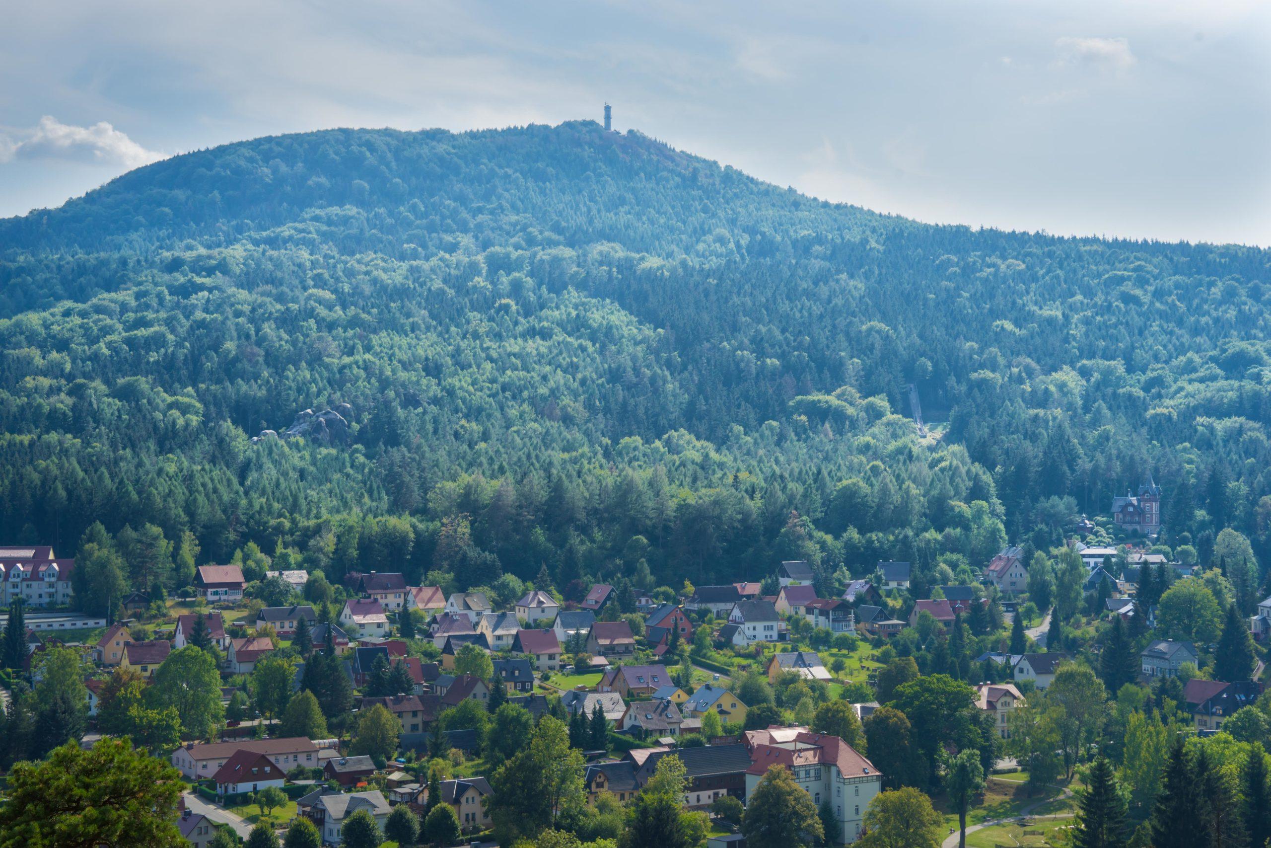Oberlausitz, Görlitz, Blick zur Landeskrone