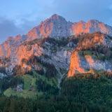 Alpen, Tirol, Tannheimer Tal am Abend