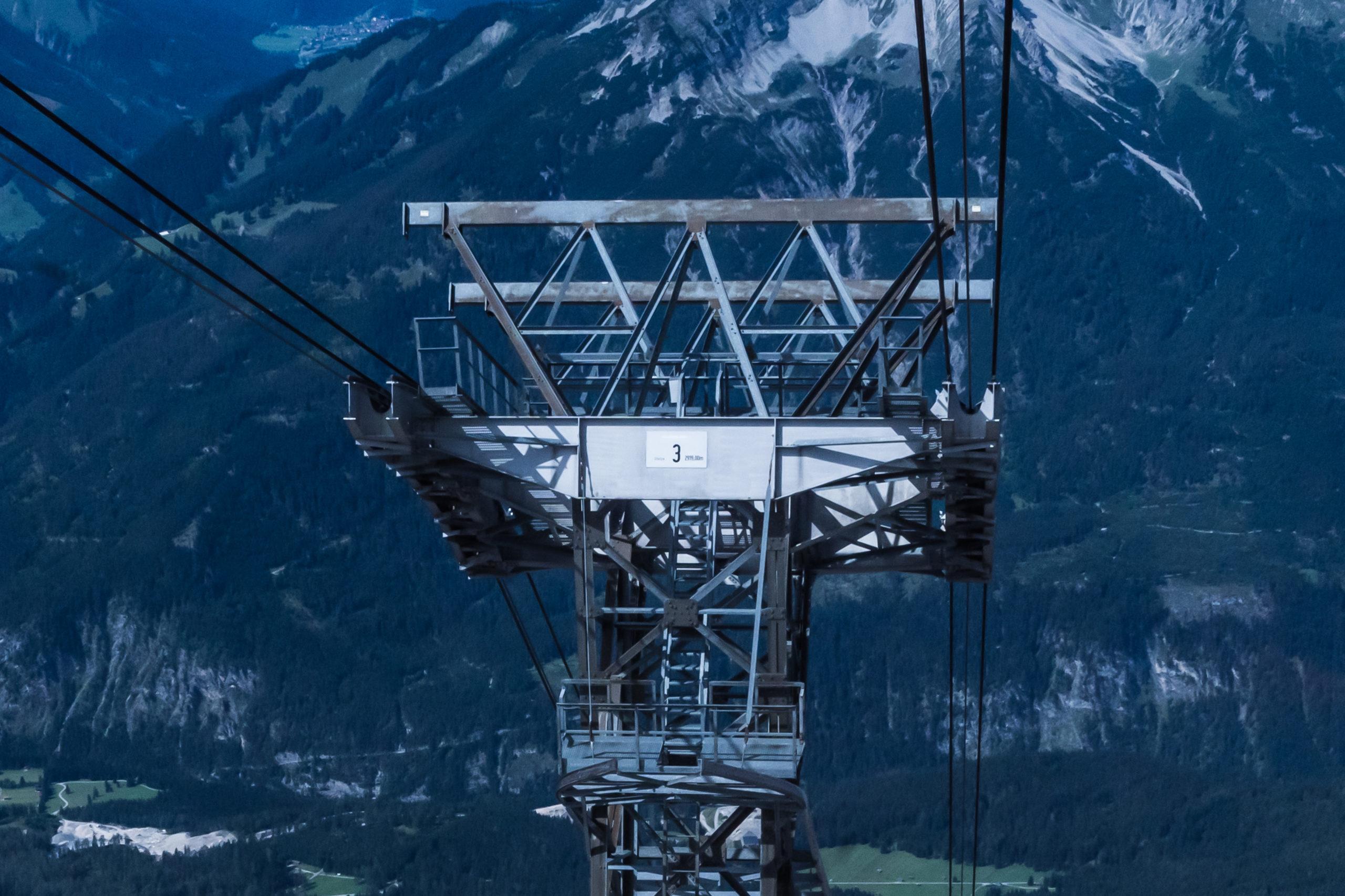 Alpen, Tirol, Blick von der Zugspitze