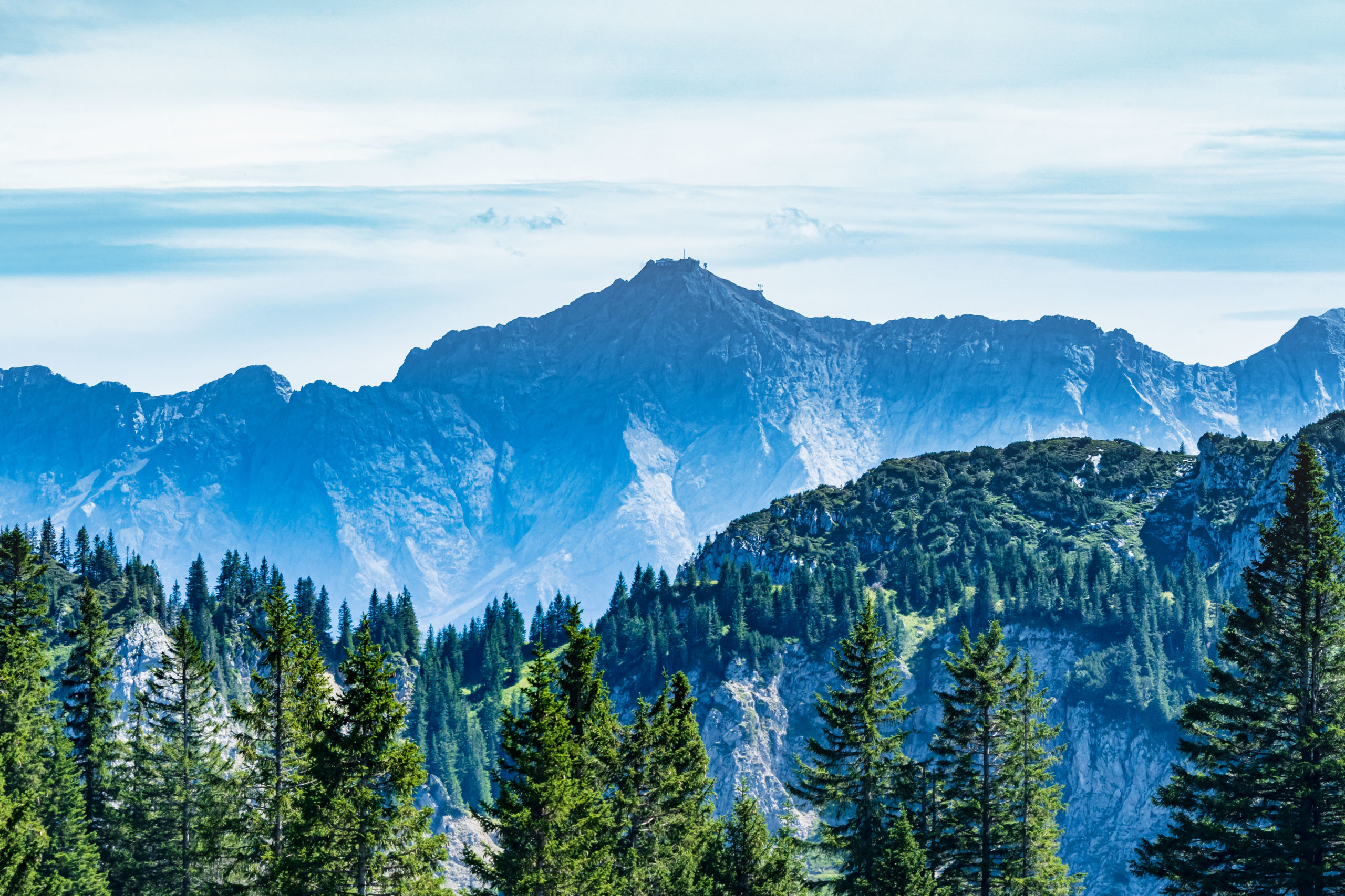 Tegelberg (Füssen) Blick zur Zugspitze