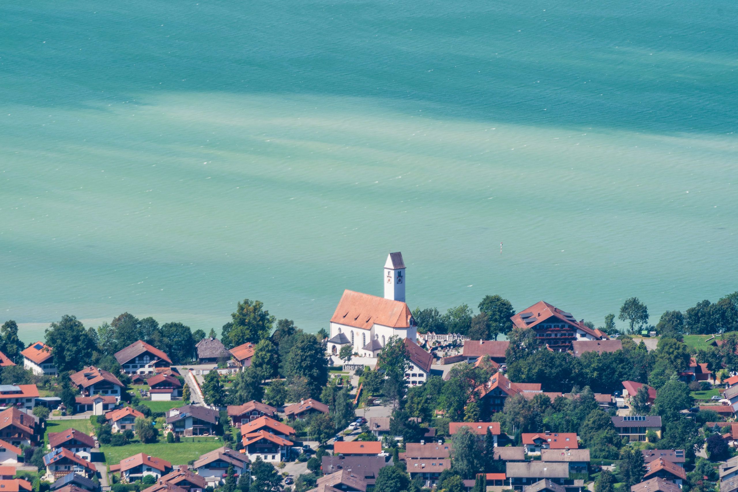 Blick vom Tegelberg auf den Forggensee