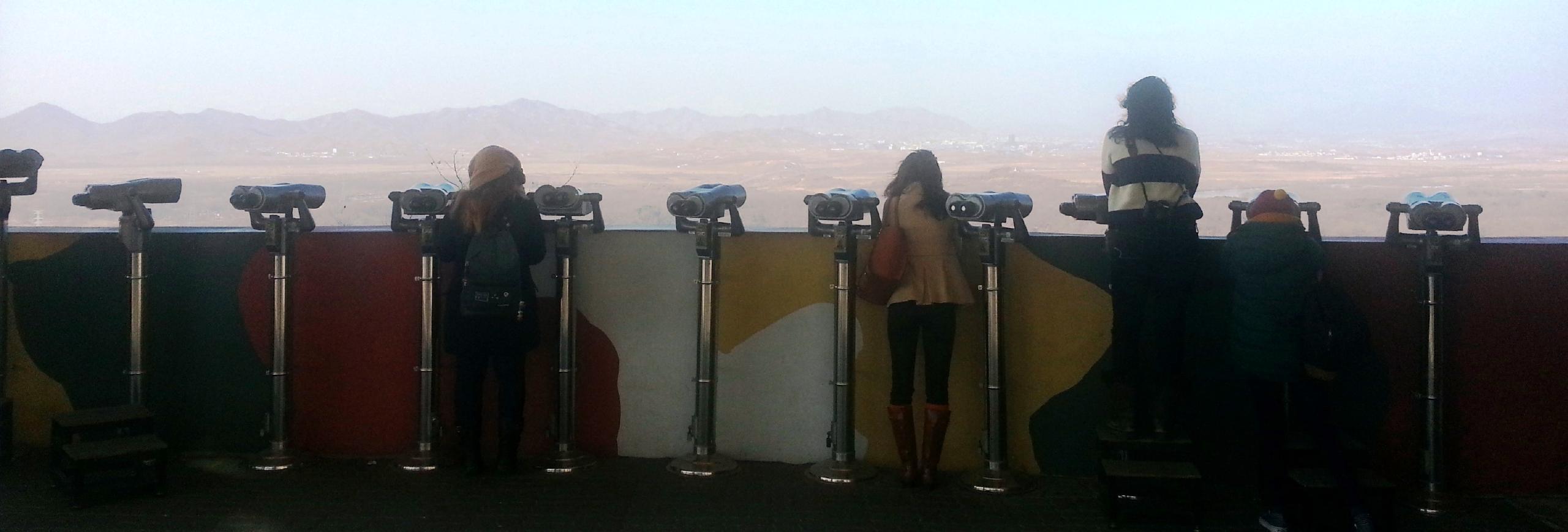 Korea, Panmunjon, DMZ, Aussichtspunkt Richtung Nordkorea
