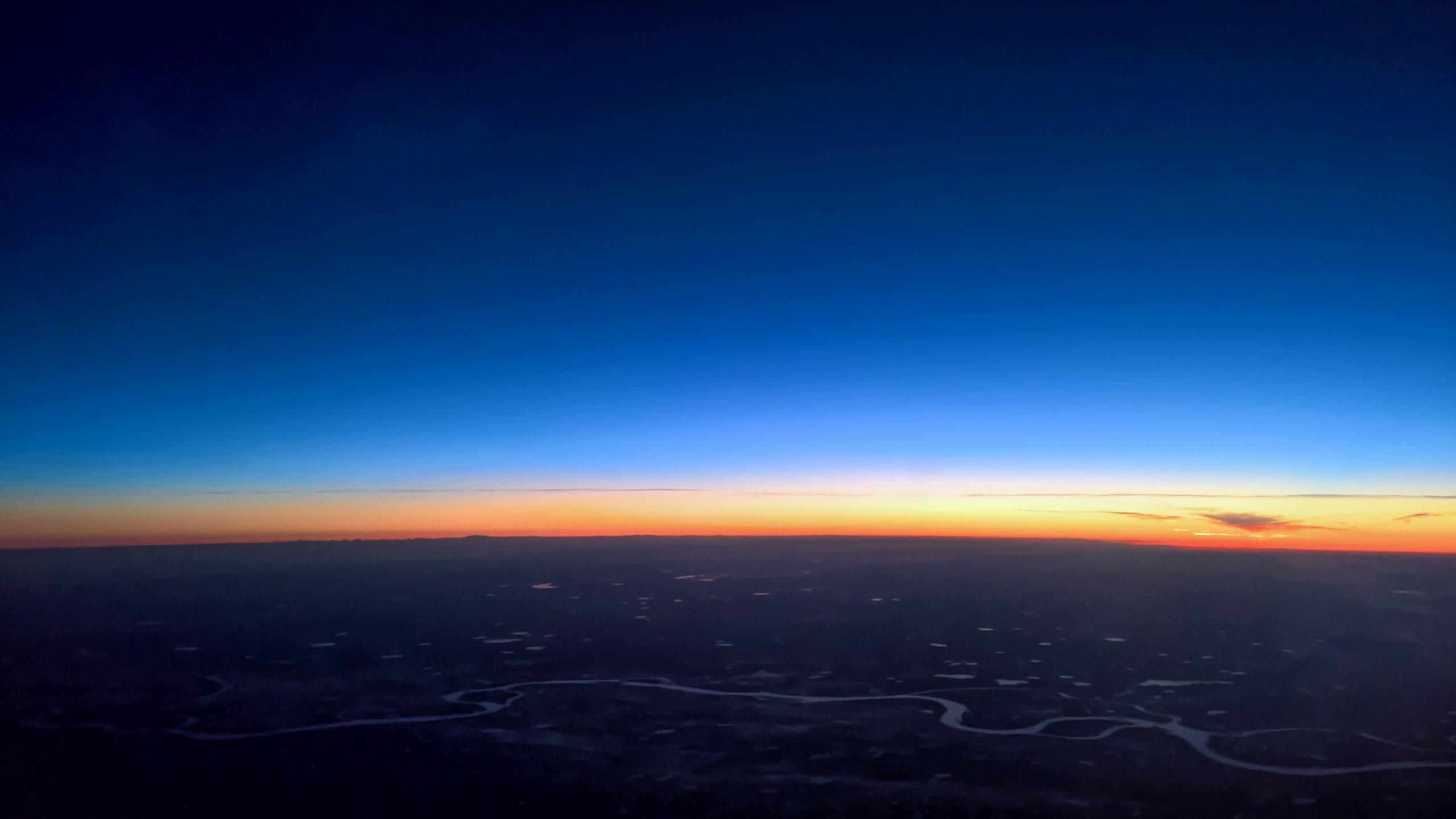 Nachts über Sibirien