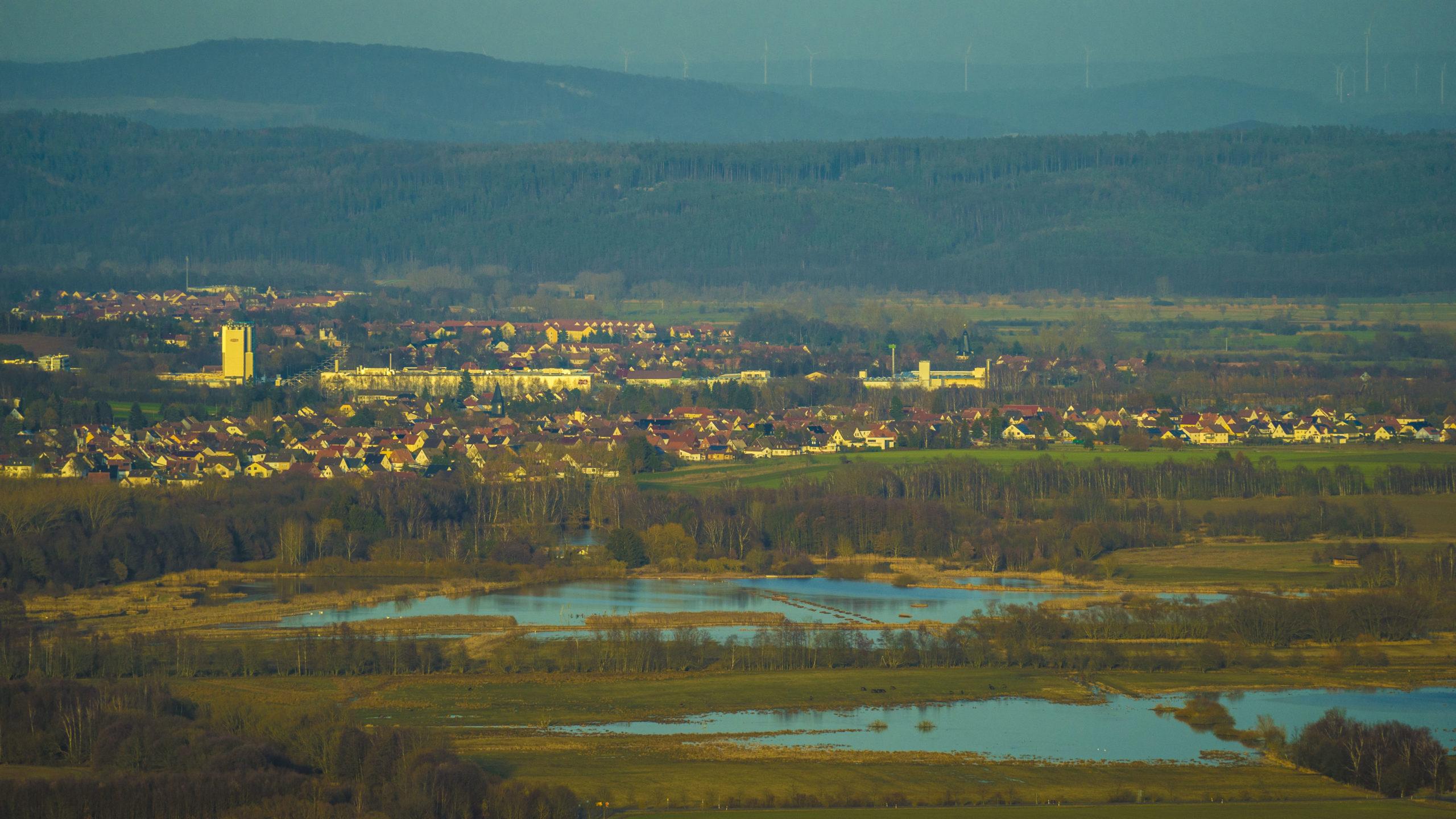 Blick von Bodesruh in Richtung Wildeck und Werratal bei Gerstungen