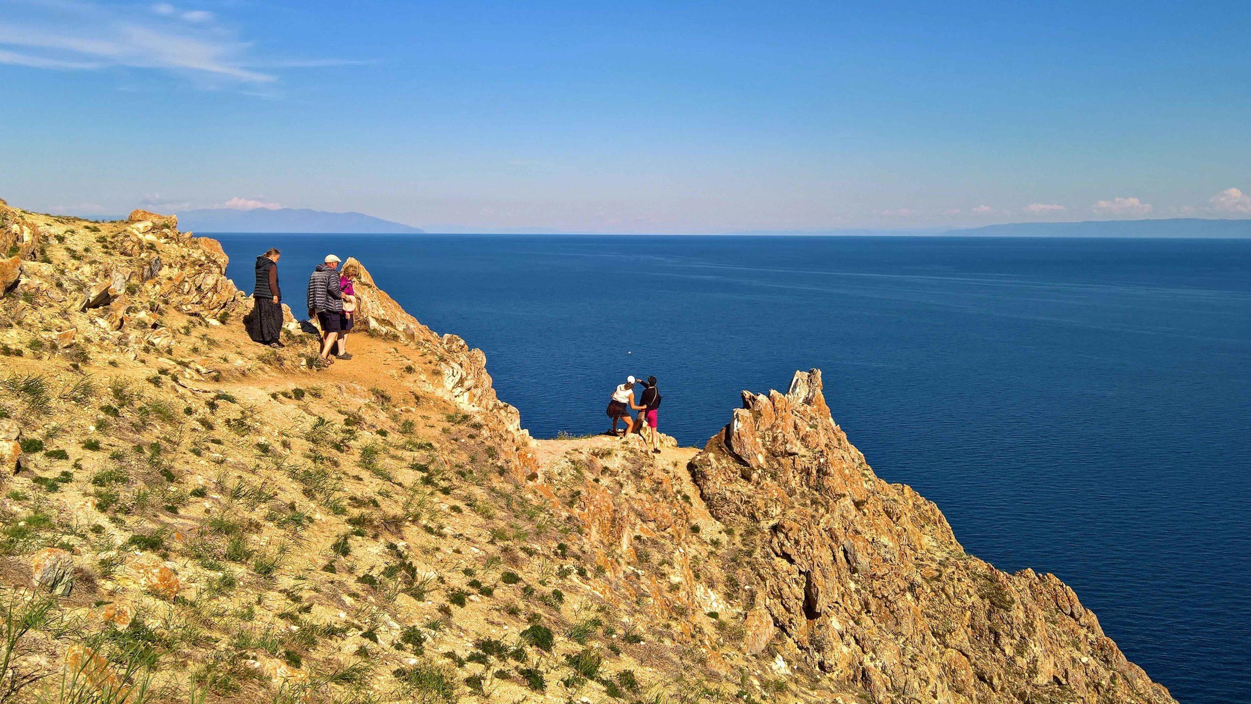 im Norden von Olchon über dem großen Baikal