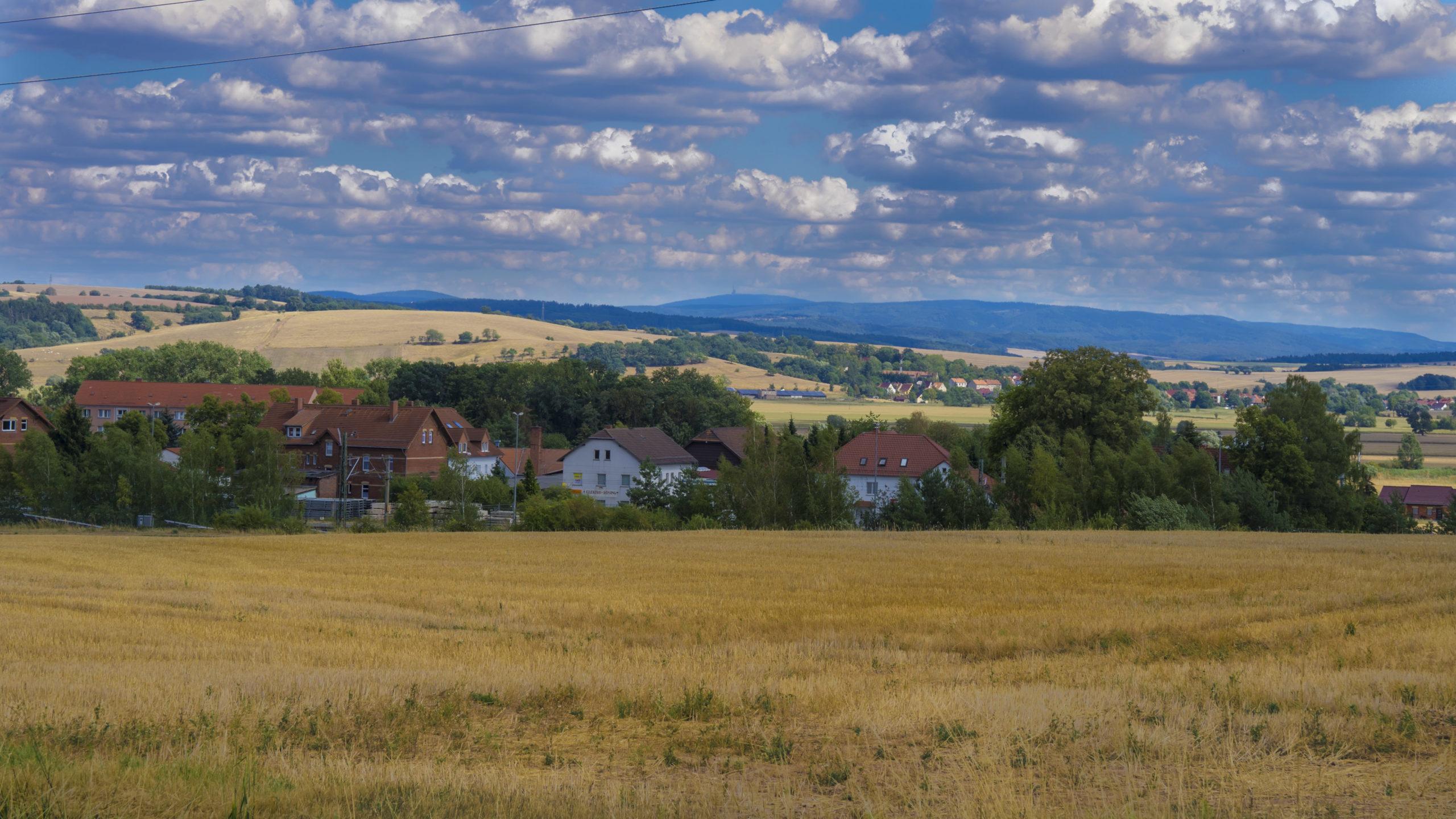 Thüringen, Gerstungen, Blick Richtung Inselsberg