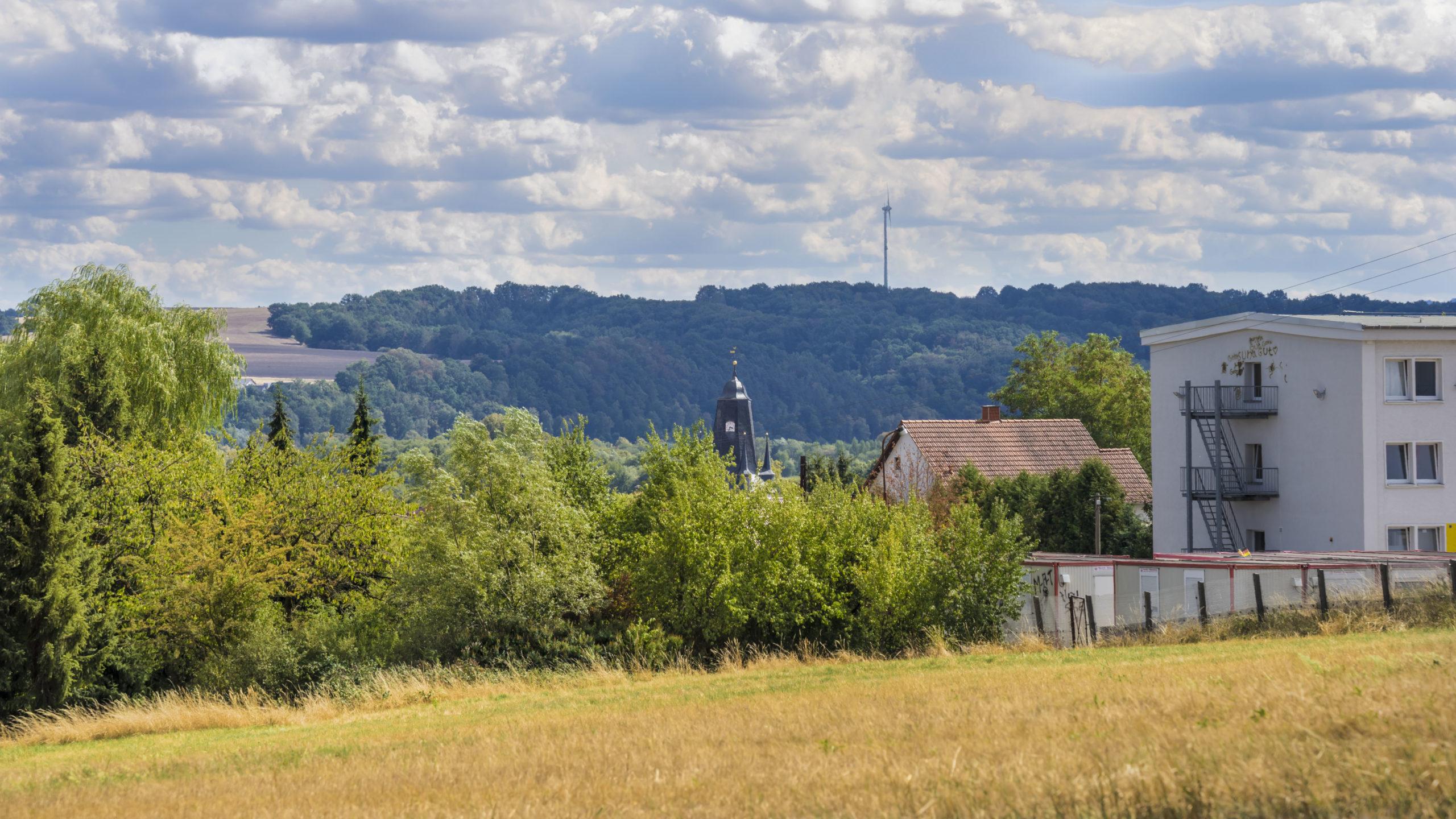 Blick Richtung Rundkirche in Untersuhl