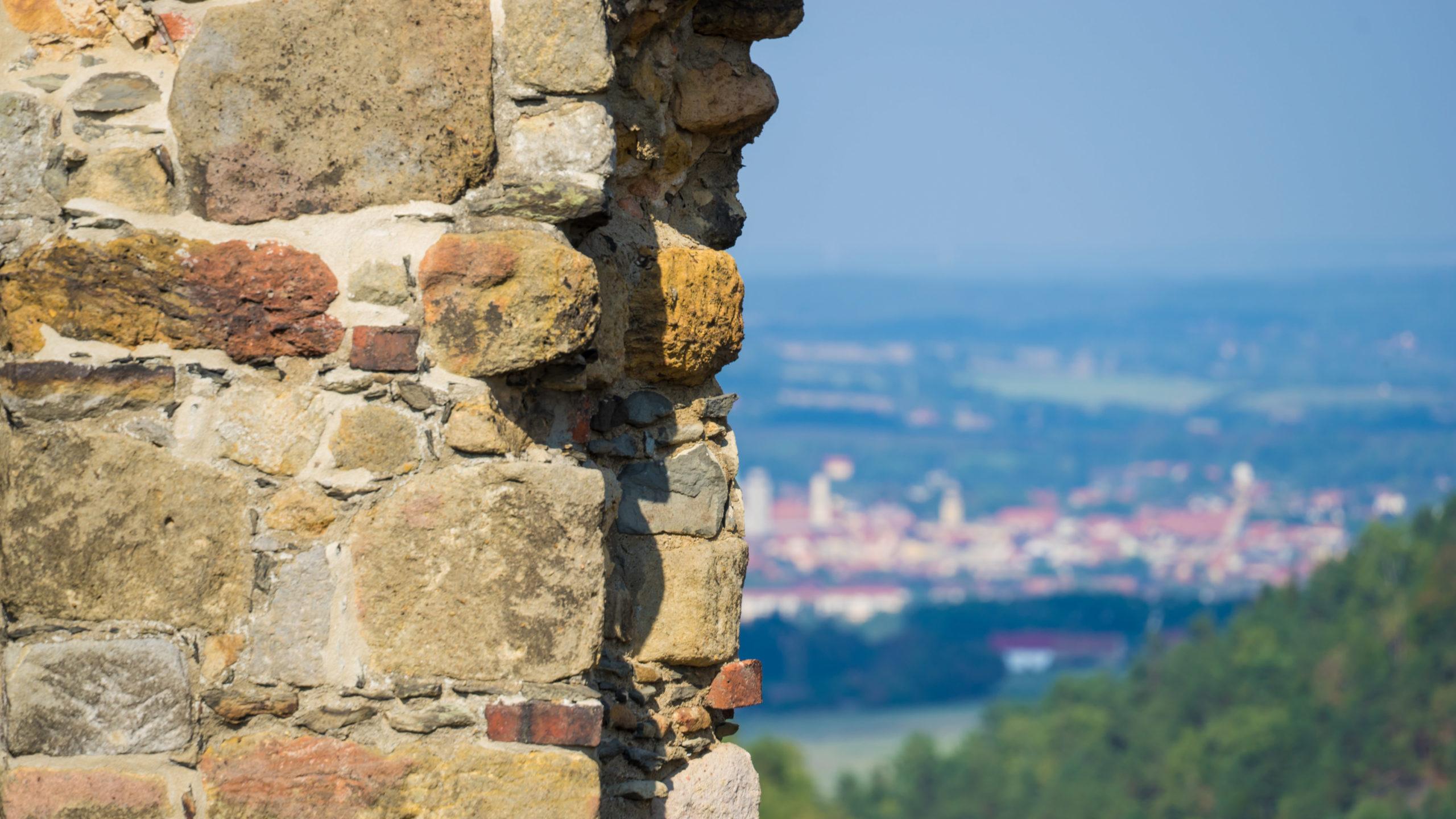 auf der Burg Oybin, Blick auf Zittau