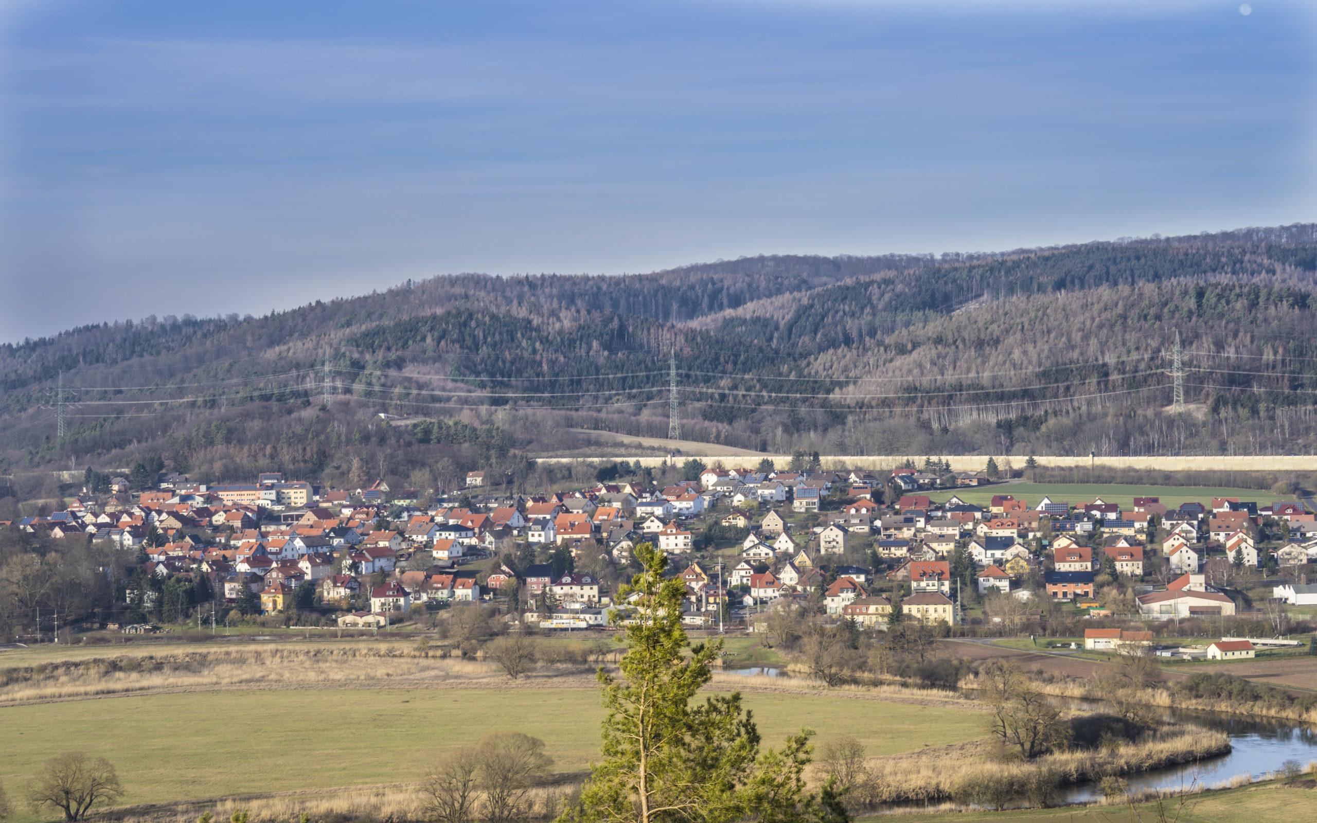 Blick von Bodesruh in Richtung Berka/Werra