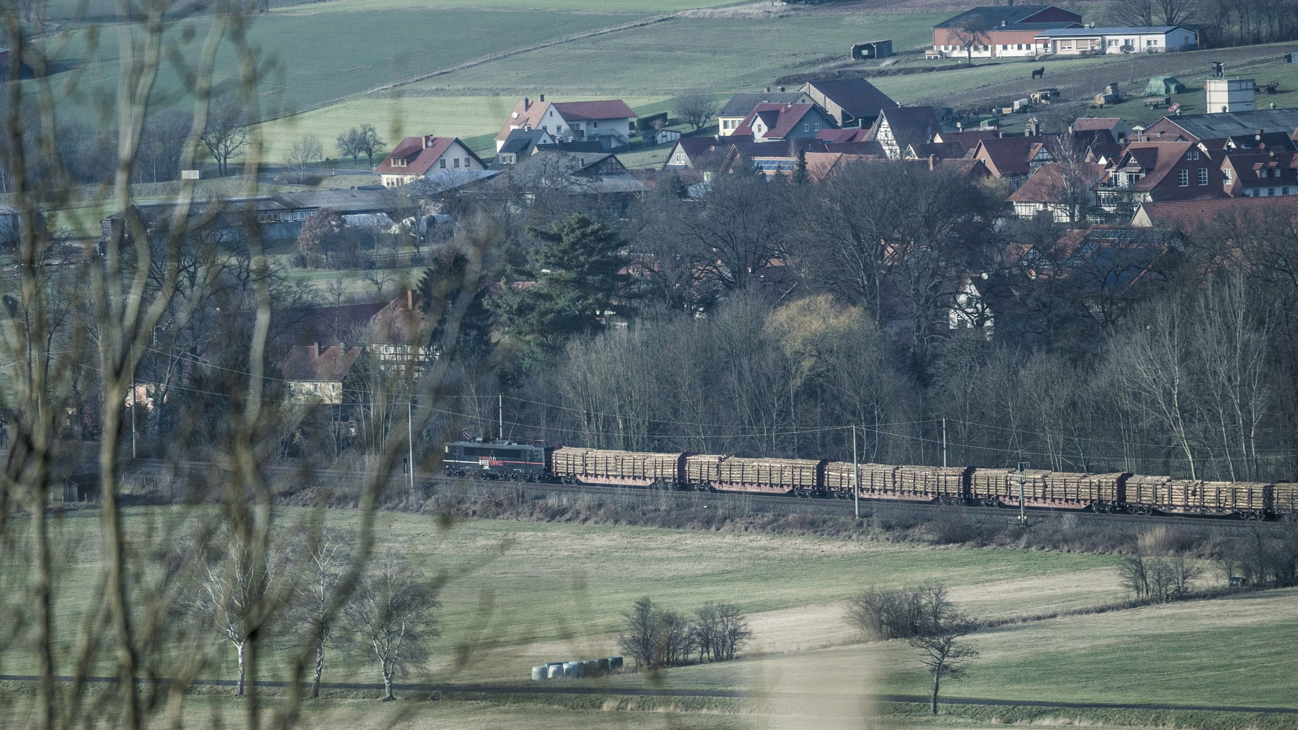 Lauchröden, Brandenburg, Blick Richtung Herleshausen