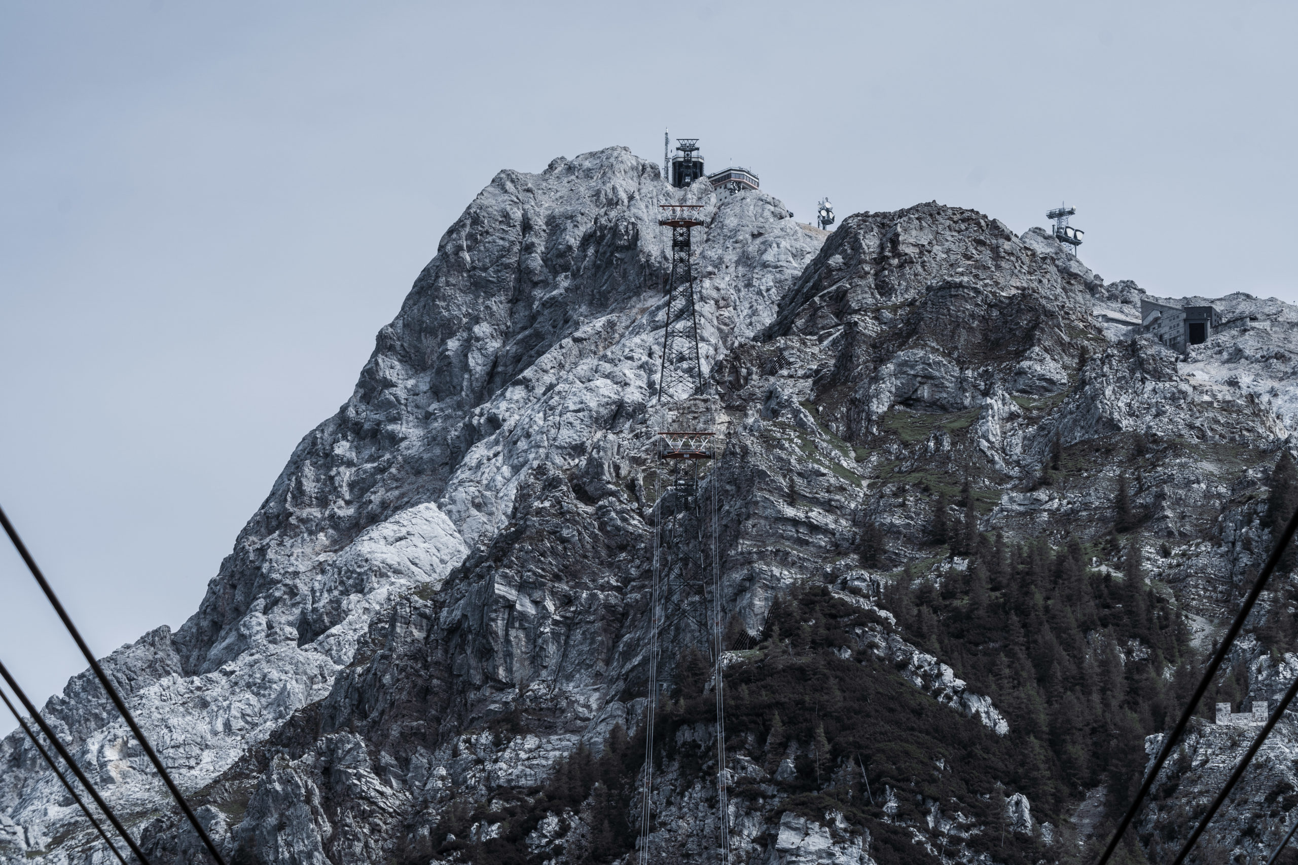 Alpen, Tirol, Seilbahn zur Zugspitze