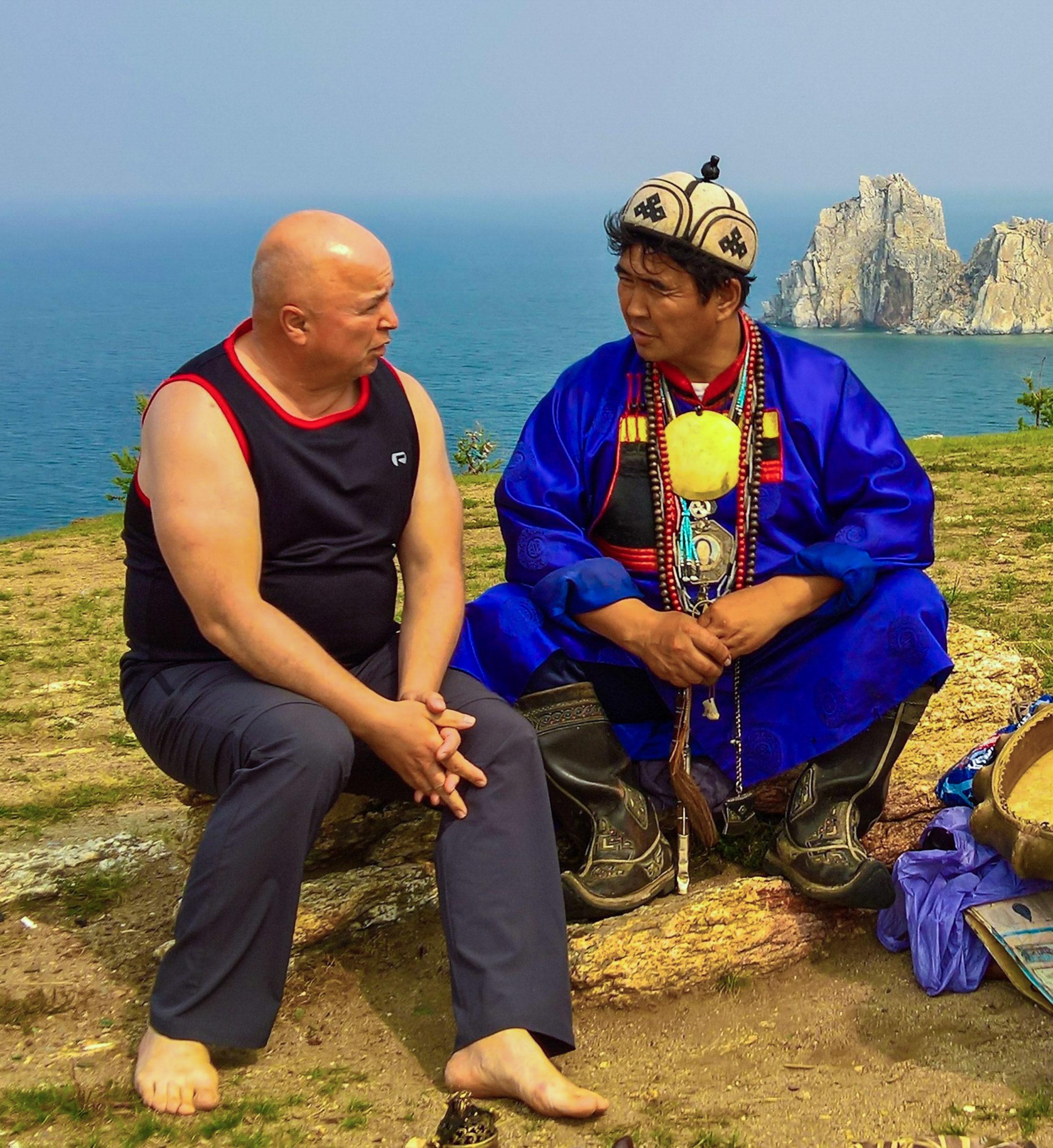 Wolle Ing beim legendären burjatisch-mongolischen Schamanen Valentin Hagdaev