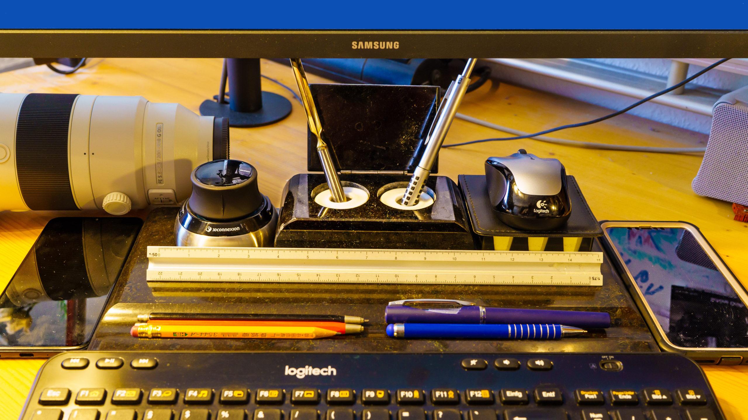 Mein Werkzeug, Schreibtisch-Stillleben