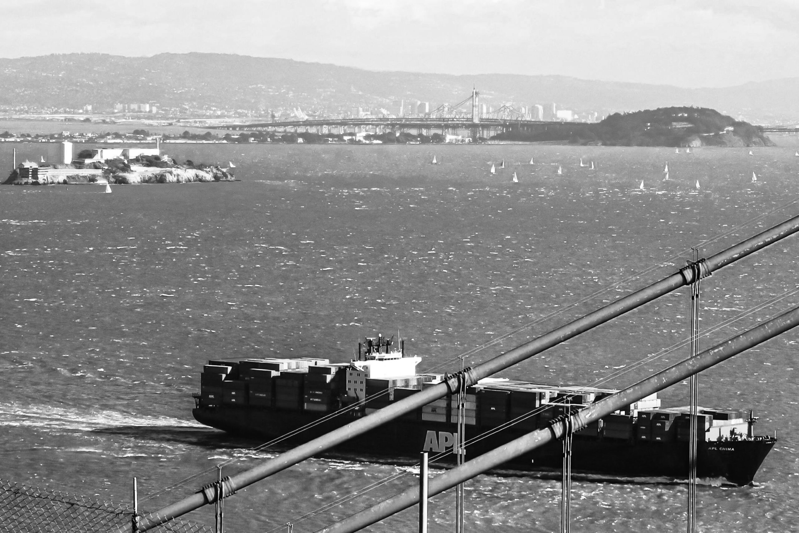 San Francisco Bay, Look to Alcatraz, Oakland Bay Bridge, Yerba Buena Island