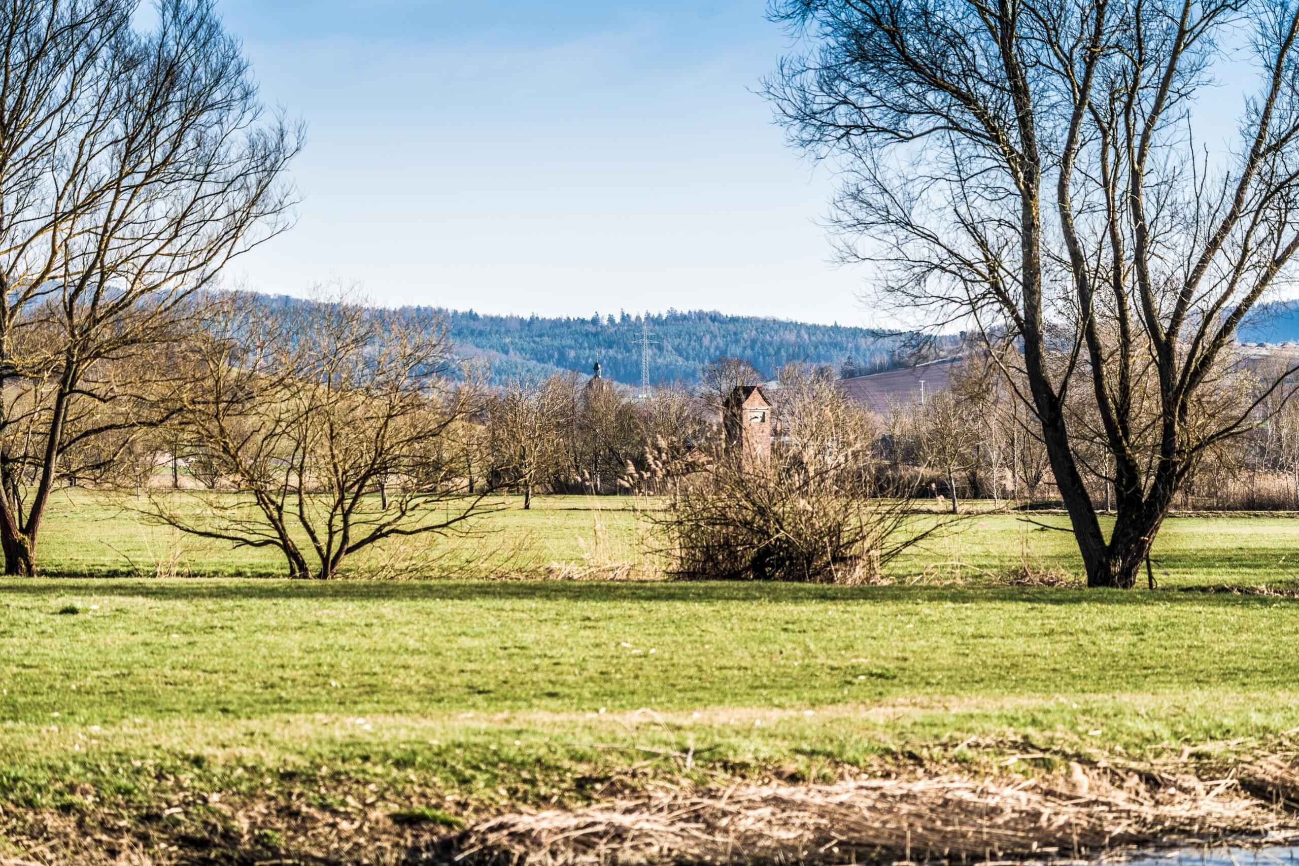 Thüringen, Gerstungen, Werra-Aue bei Herda