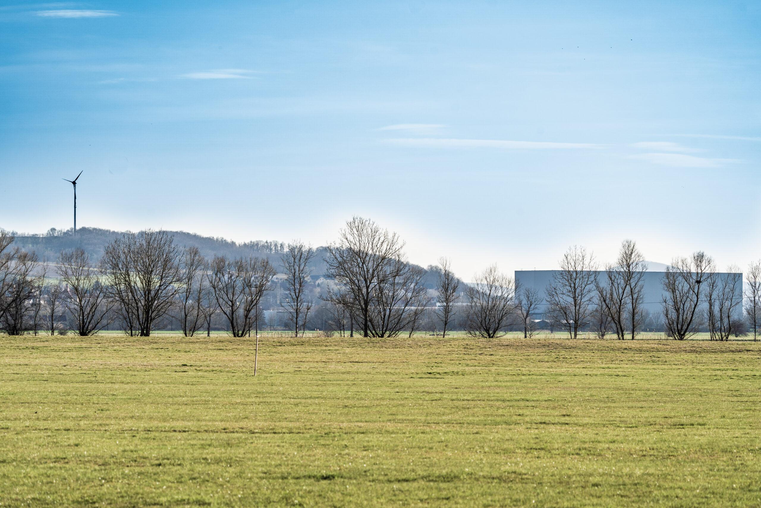 Thüringen, Gerstungen, Blick über die Werra-Aue (Forst)