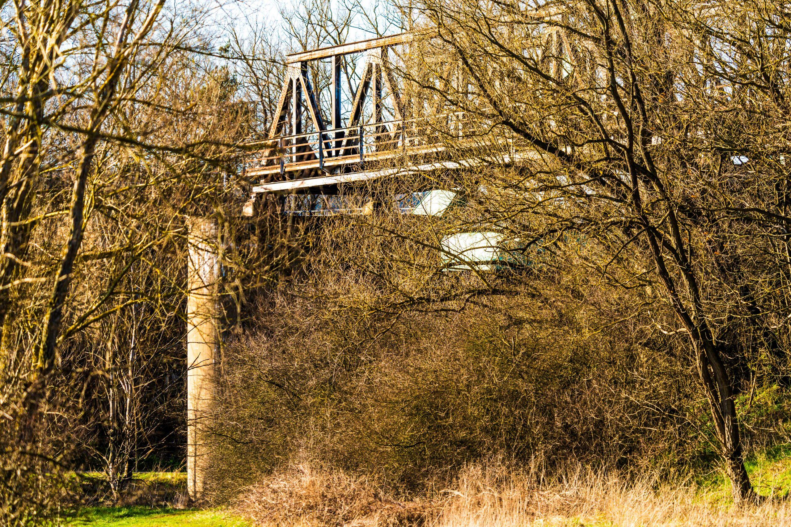 Thüringen, Gerstungen, alte Trassenbrücke über Werra