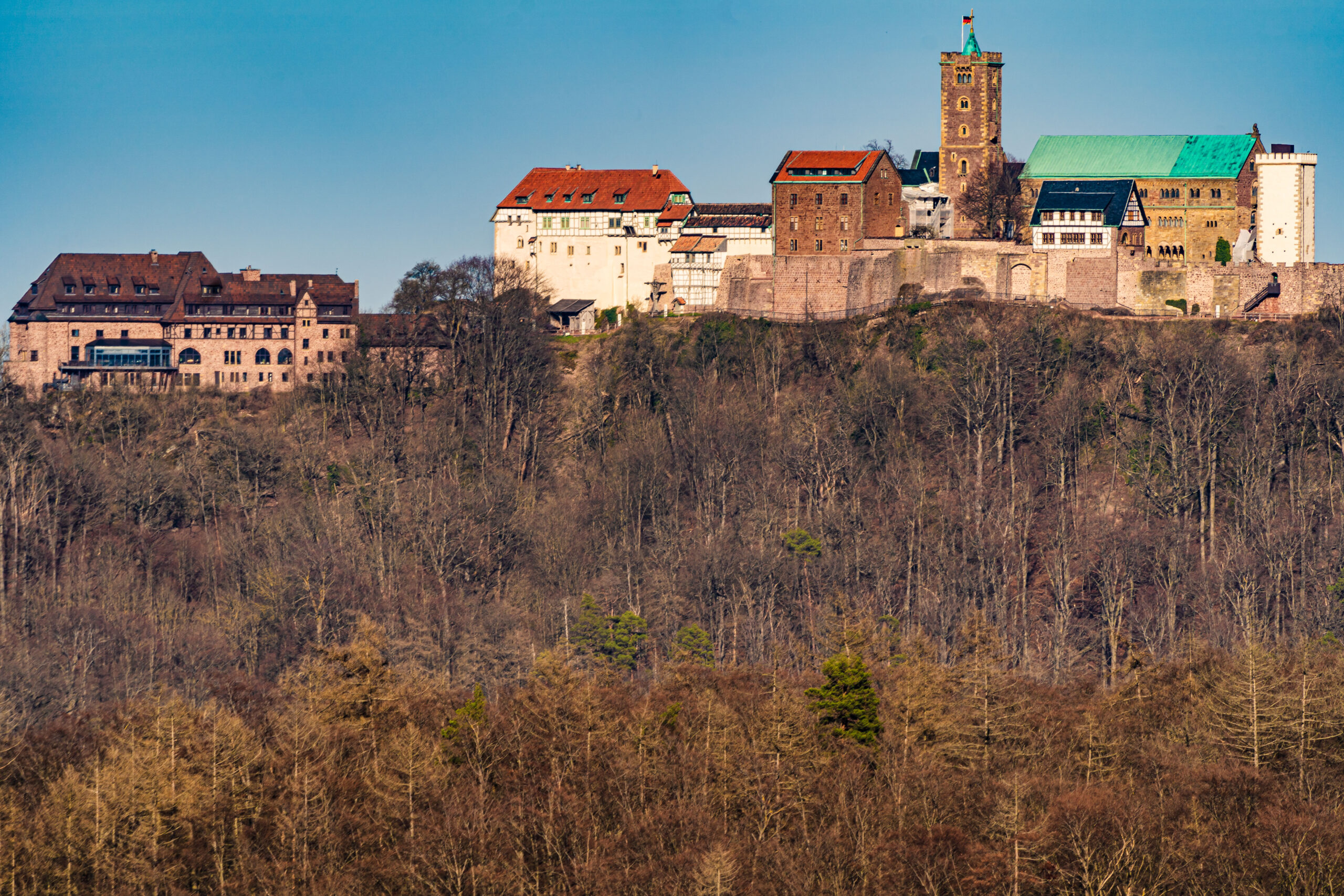 Thüringen, Wartburgblick am Rennsteig