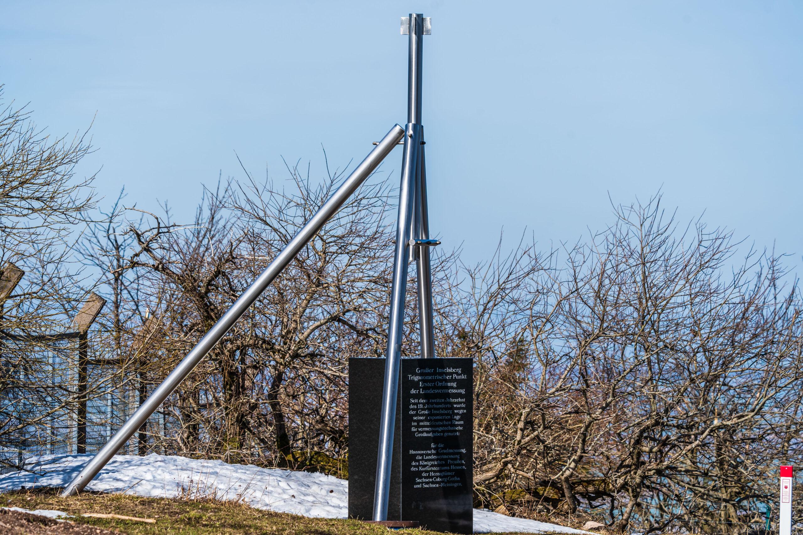 Inselsberg, Trigonometrischer Punkt