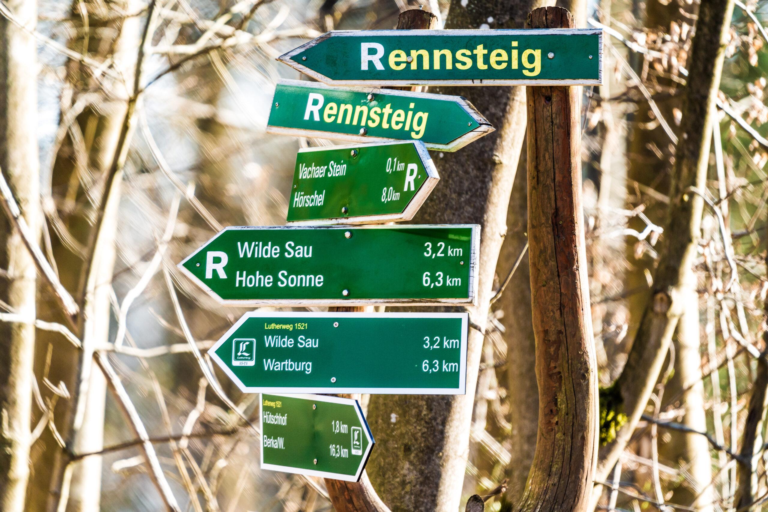 Thüringen, zum Wartburgblick am Rennsteig