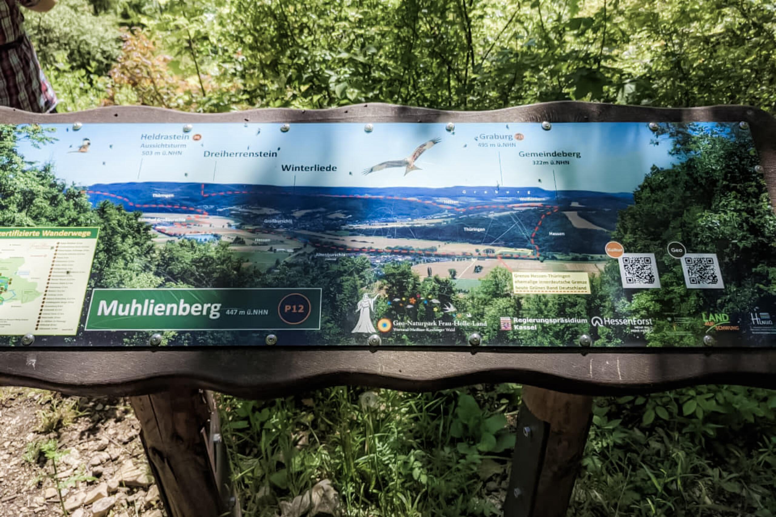Aussichtspunkt Muhlienberg - Richtung Altenburschla